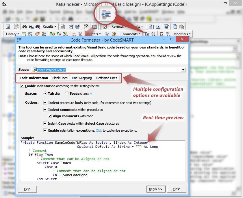 Code Smart [VB6] Code-formatter